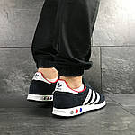 Чоловічі кросівки Adidas La Trainer (темно-сині з білим), фото 3