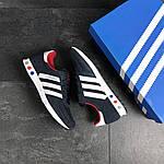 Чоловічі кросівки Adidas La Trainer (темно-сині з білим), фото 4