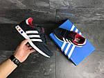 Чоловічі кросівки Adidas La Trainer (темно-сині з білим), фото 6