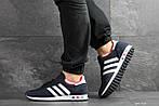 Чоловічі кросівки Adidas La Trainer (темно-сині з білим), фото 5
