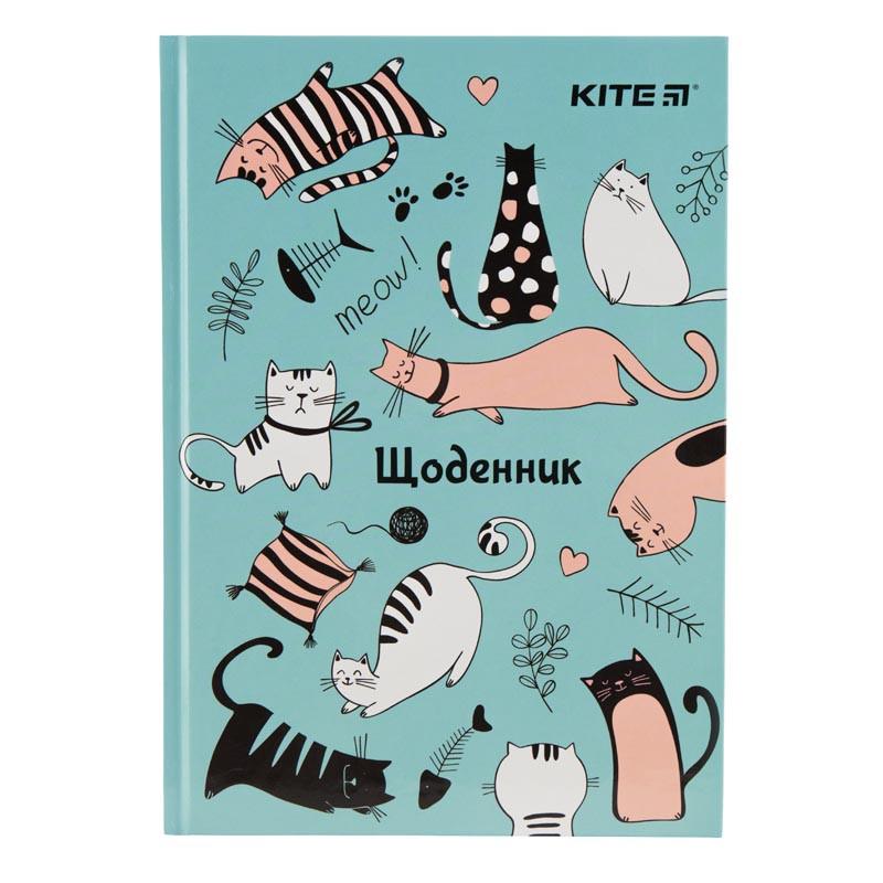 ДНЕВНИК ШКОЛЬНЫЙ KITE FUNNY CATS,  ТВЕРДАЯ ОБЛОЖКА (K19-262-4,)