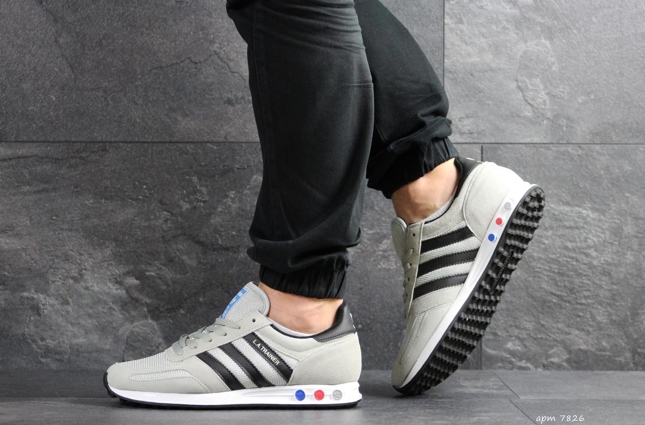 Мужские кроссовки Adidas La Trainer (бежевые)