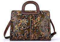 Итальянская женская кожаная сумочка Amy Lee Коричневая, фото 1