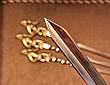 """Шампура ручной работы """"Козаки"""" в колчане из кожи, 6шт, фото 4"""
