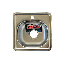 Врезная кухонная мойка из нержавеющей стали Platinum 3838 Сатин 0.6