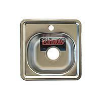 Врезная кухонная мойка из нержавеющей стали Platinum 3838 Декор 0.6