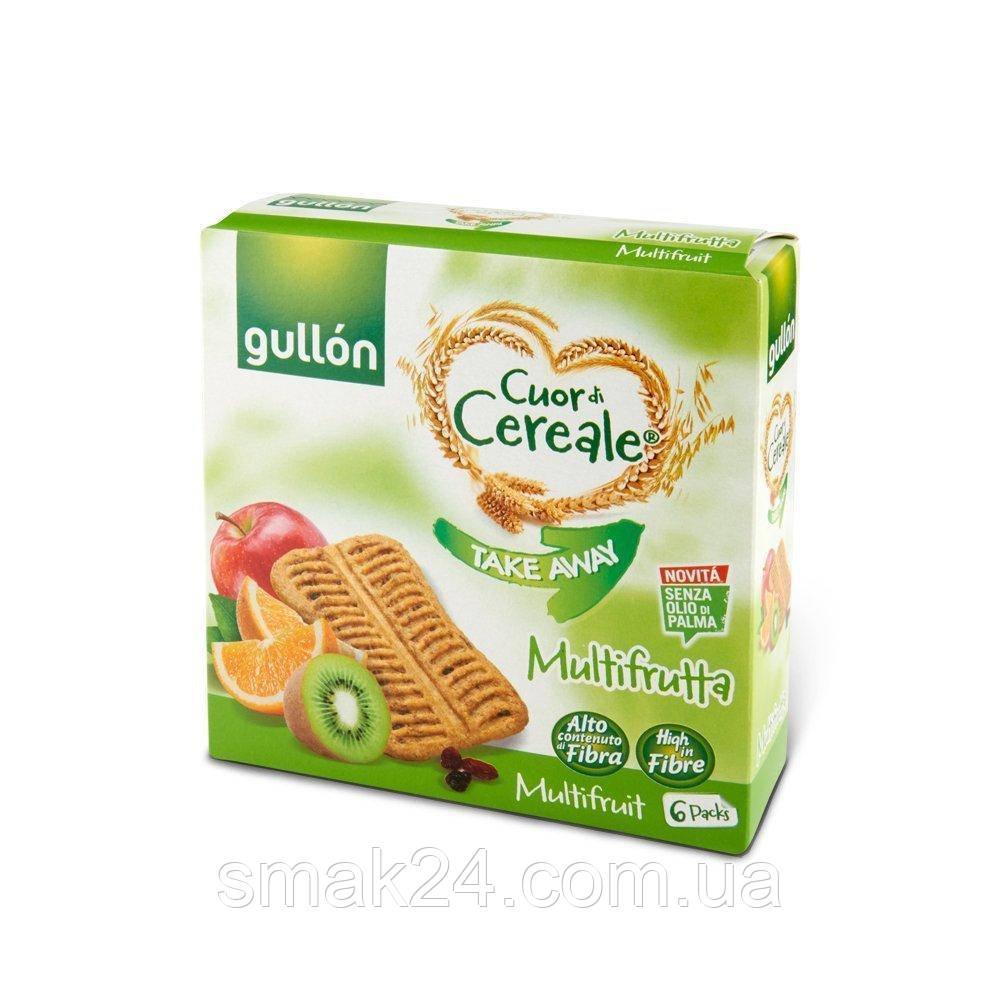 Печиво без пальмової олії злакове Мультифрутта Gullon 144гр (6х24г) Іспанія