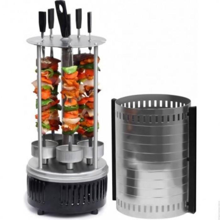 Домашняя электрошашлычница Domotec BBQ 1000W на 5 шампуров