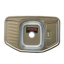 Врезная кухонная мойка из нержавеющей стали Platinum 7851 Сатин 0.8