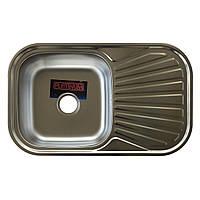 Врезная кухонная мойка из нержавеющей стали Platinum 7848 Сатин 0.8