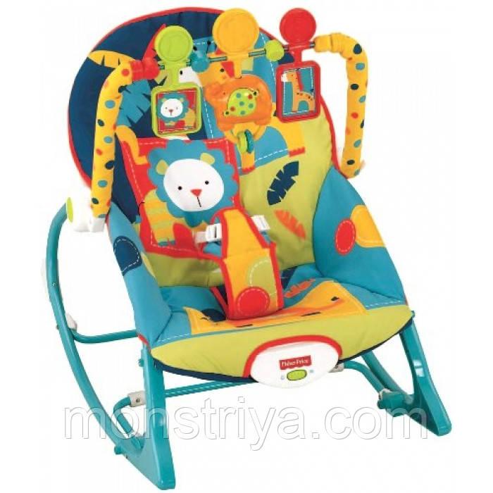 Кресло качалка, шезлонг,Fisher-Price , Dark Safari