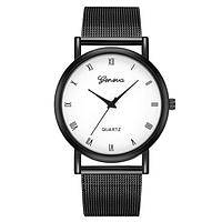 Женские часы Geneva с римскими цифрами и металлическим браслетом   88250, фото 1