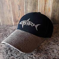 Бейсболка, кепка shark черная, фото 1