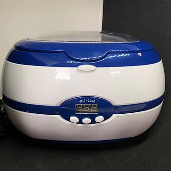 Стерилизатор ультразвуковой Ultrasonic Cleaner VGT-2000 на 35 Вт и 600 мл (уз-мойка)