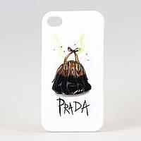 Чехол из высококачественного силикона для Iphone 4/4S  Prada
