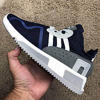 Мужские весенние текстильные кросовки Adidas EQT Cushion ADV синий (41 размер последняя пара)