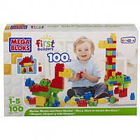 Конструктор Mega Bloks в коробці 100 деталей, вік 1-5 років.