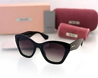 Женские солнцезащитные очки в стиле Miu Miu (11n) black, фото 1