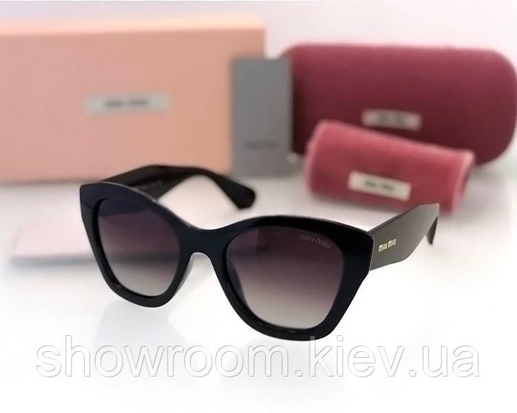 Женские солнцезащитные очки в стиле Miu Miu (11n) black