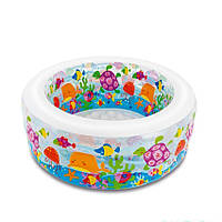 Детский бассейн надувной круглый Аквариум Intex 58480