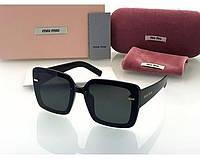 Женские солнцезащитные очки в стиле Miu Miu (902) black, фото 1