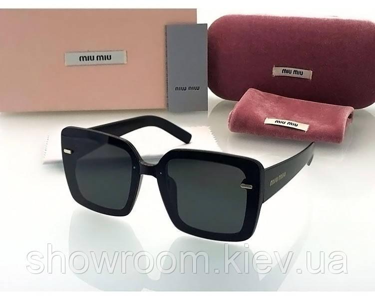 Женские солнцезащитные очки в стиле Miu Miu (902) black