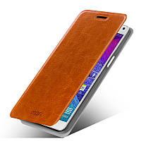 Кожаный чехол книжка Mofi для Samsung Galaxy A5 A500 коричневый, фото 1