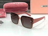 Женские солнцезащитные очки в стиле Miu Miu (902) rose, фото 1