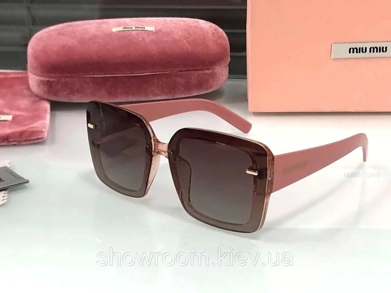 Женские солнцезащитные очки в стиле Miu Miu (902) rose