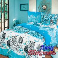 Постельное белье Top Dreams Cotton Зимние тигры полуторное