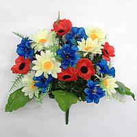 Букет композиция полевых цветов. 35 см. (20 шт.  в уп.)