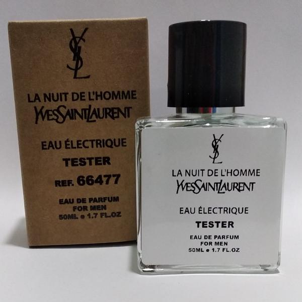 Мужская парфюмированная вода Yves Saint Laurent La Nuit de Lhomme eau Electric (Ив Сент Лоран Ла Нуит Де Эль Хом Электрик) 50 мл тестер|tester
