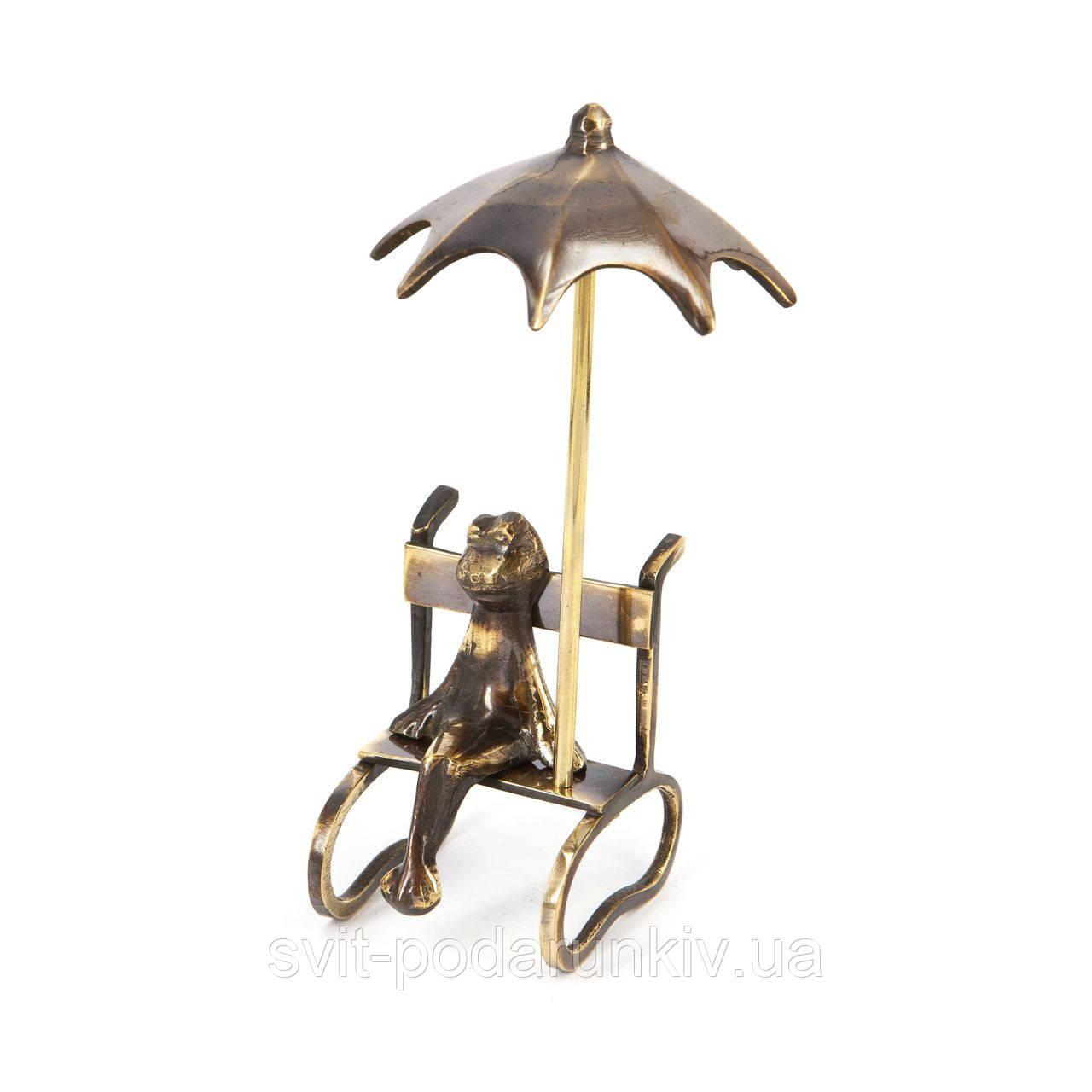 Фигурка лягушка сувенир статуэтка на лавочке 121
