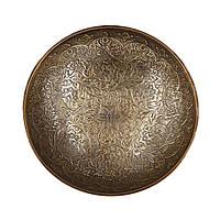 Ваза под конфеты круглая плоская с чеканным украшением S2004