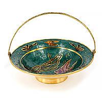Тарелка для фруктов сделанная из латуни с морской тематикой S2605I