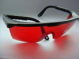 Защитные очки (красные) от лазерного излучения волн 405nm, 450nm, 532nm, 1064nm, фото 3