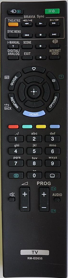 Пульт для телевизора SONY. Модель RM-ED035