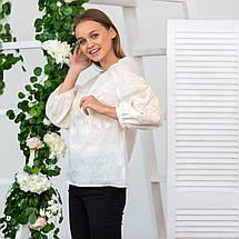 Жіноча блуза з вишивкою Француський шарм беж, фото 2