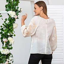 Жіноча блуза з вишивкою Француський шарм беж, фото 3