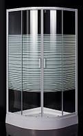 """Eger  TISZA (AMUR) душевая кабина 90*90*185 см (стекла+двери), профиль белый, стекло """"Frizеk"""" : 599-021/1-A"""