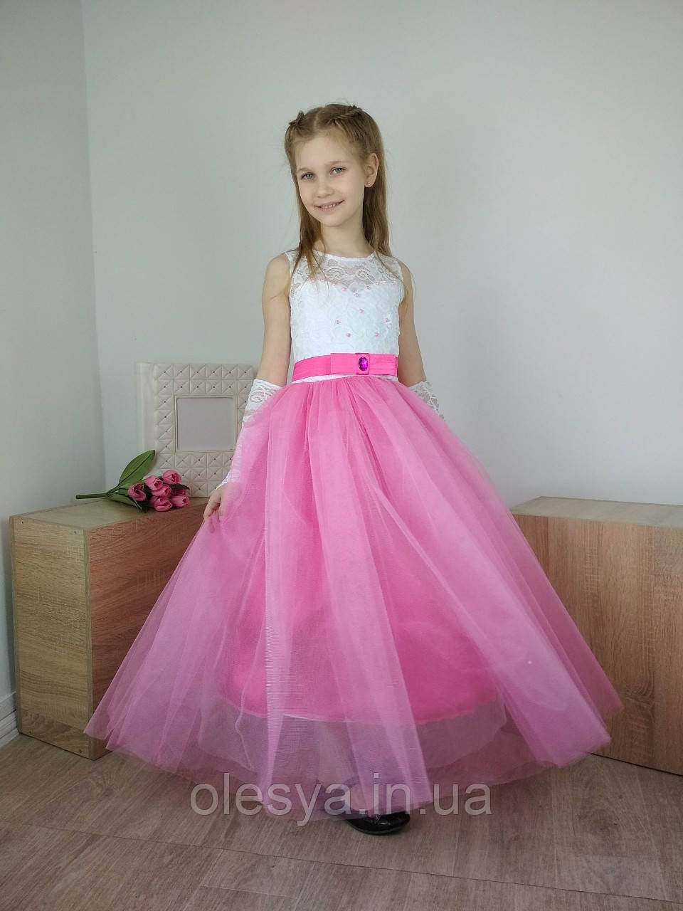 Детское бальное платье в пол Размеры 30- 34