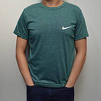 Мужская футболка Найк (Nike) / Размеры 44-52 - зеленая