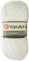 Пряжа для вязания YarnArt Charisma (Харизма) шерсть 501 белый
