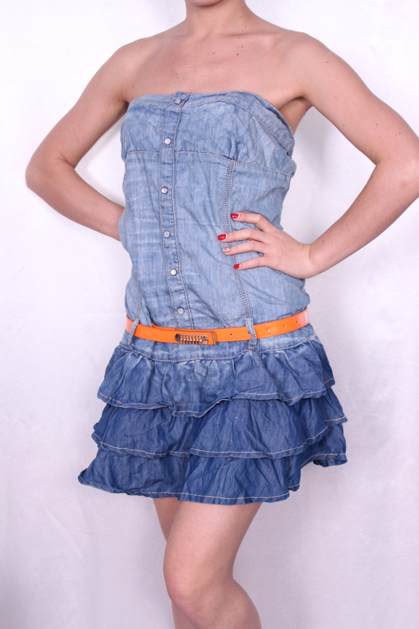 Женское джинсовое платье. размеры 25.26.27.28