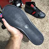 Gucci High Top Head GG Supreme Gray Sneaker Black, фото 8