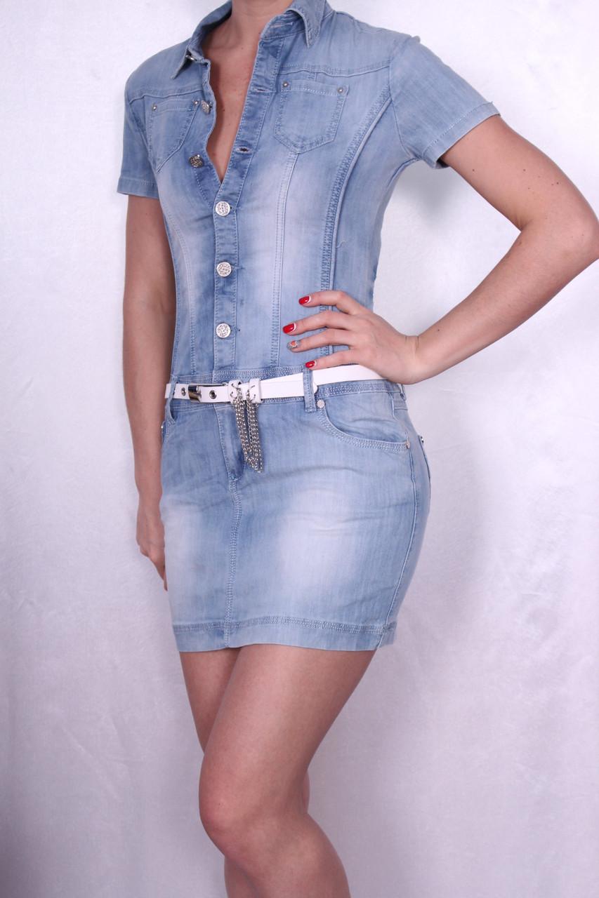 Платье женское джинсовое.
