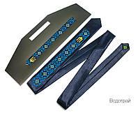 """Узкий мужской галстук с вышивкой """"Водограй"""""""