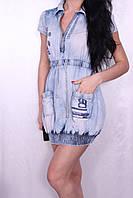 Женское джинсовое платье.