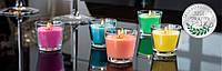 Свеча  парафиновая в стекле  MIX 1шт