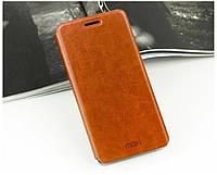 Кожаный чехол книжка Mofi для Samsung Galaxy E5 E500H/DS коричневый, фото 1